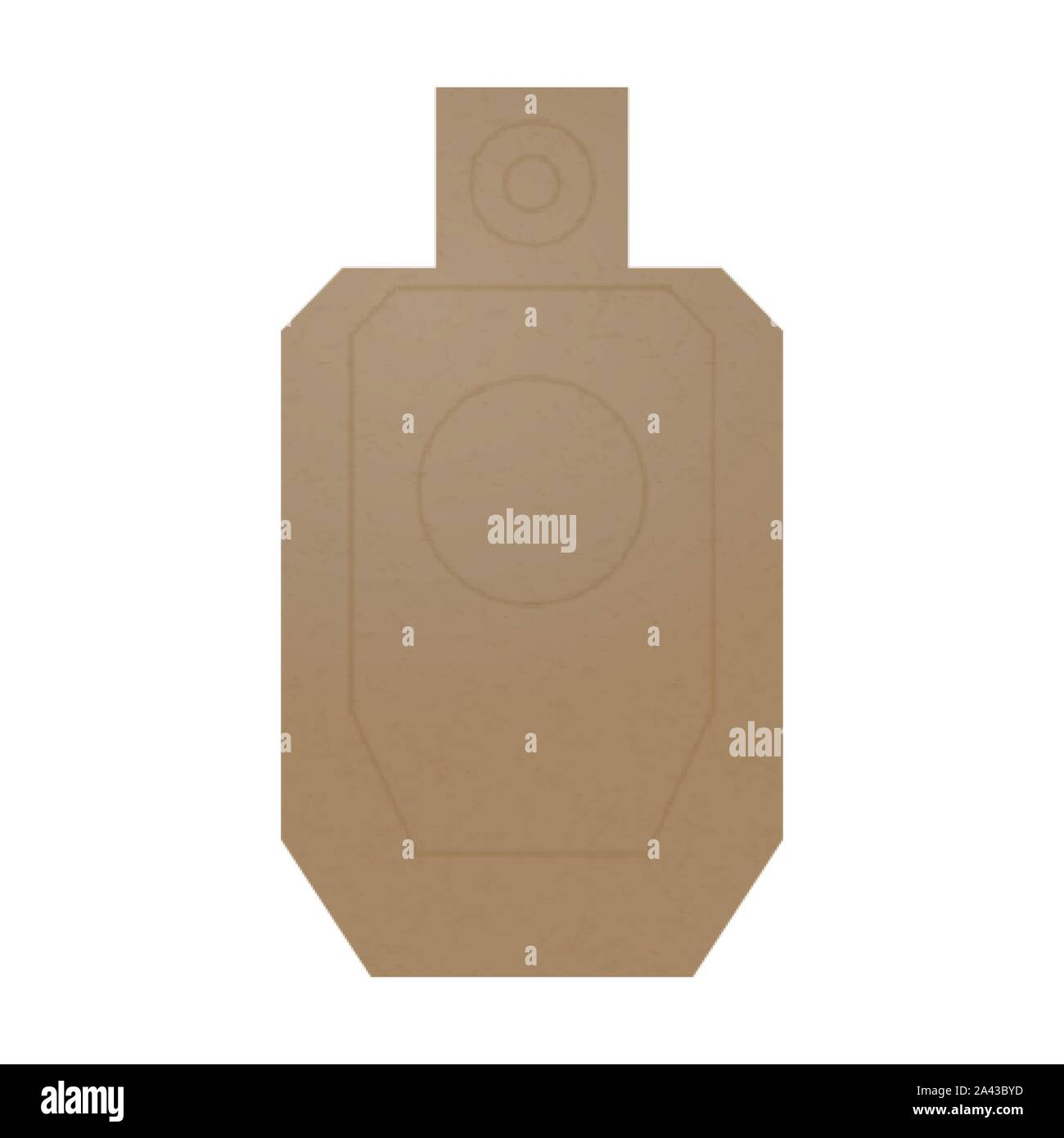Cardboard human body shaped target for a shooting practice Stock Vector