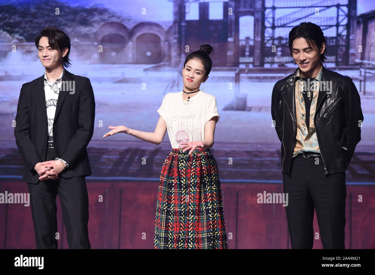 Chinese Actor And Model Xu Kai Left Actress Bai Lu Middle And Hong Rao Attend The Press Conference For Arsenal Military Academy In Beijing 12 A Stock Photo Alamy 白鹿 / 白梦妍 / bai meng yan. https www alamy com chinese actor and model xu kai left actress bai lu middle and hong rao attend the press conference for arsenal military academy in beijing 12 a image329559161 html