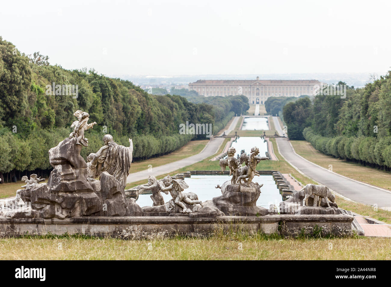 Royal Palace of Caserta It was the largest palace erected in Europe during the 18th century, like to Versailles Palace Stock Photo