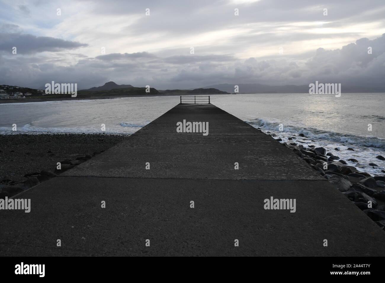 Criccieth beach Stock Photo