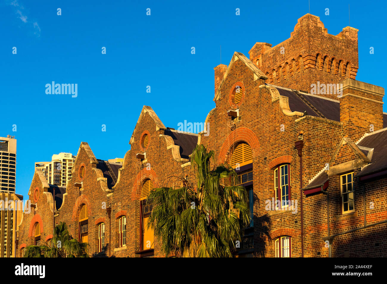 Sydney, Australia - Jul 23, 2016: Australasian Steam Navigation Co. building exterior. It is warehouse in The Rocks suburb in Federation Anglo-Dutch a Stock Photo