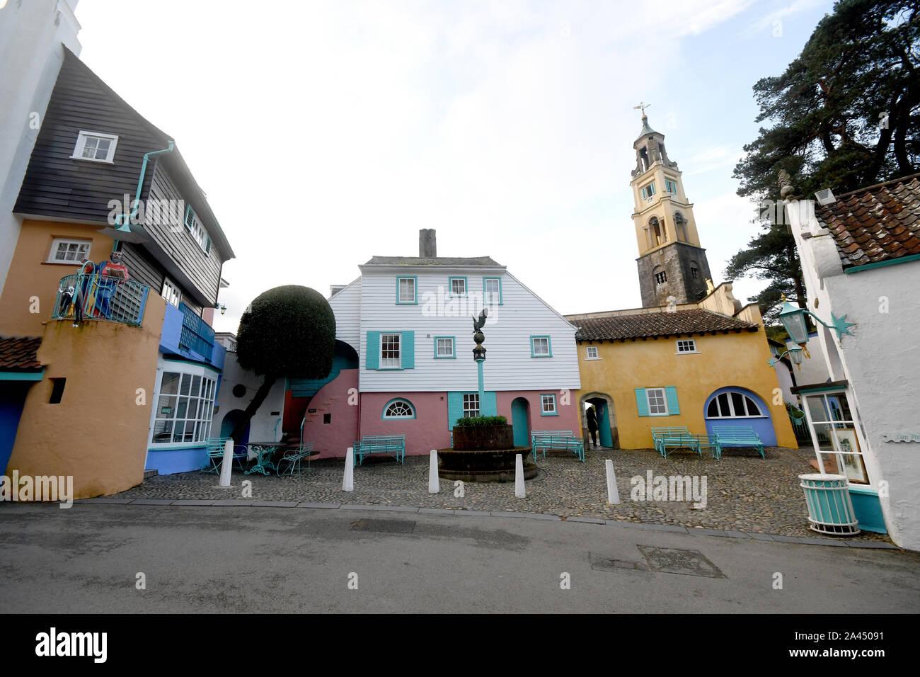 Portmeirion village Stock Photo