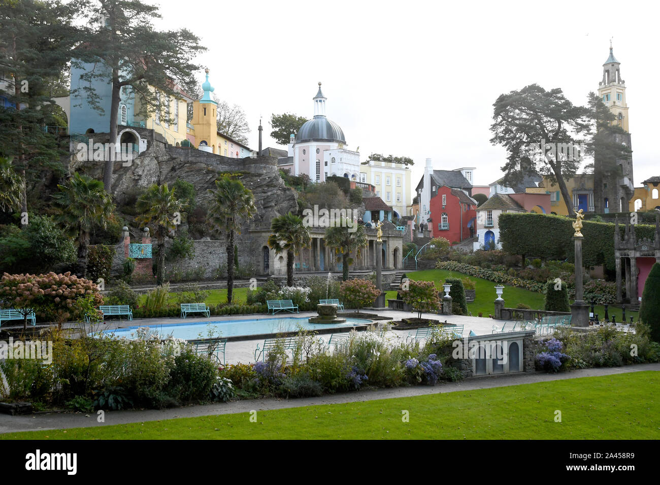 Portmeirion village Stock Photo