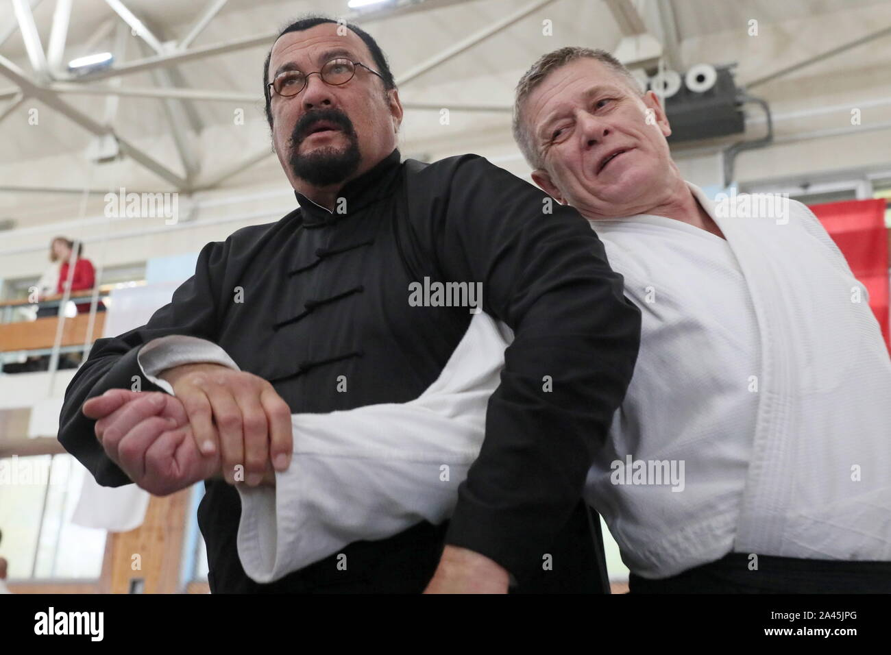 Moscow Russia 12th Oct 2019 Moscow Russia October 12 2019 American Actor And Martial Artist Steven