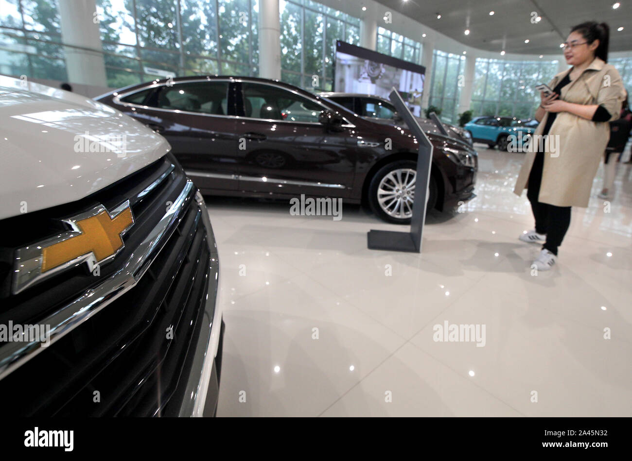 Giant Auto Sales >> Yantai China 12th Oct 2019 Gm Cars Are Displayed As