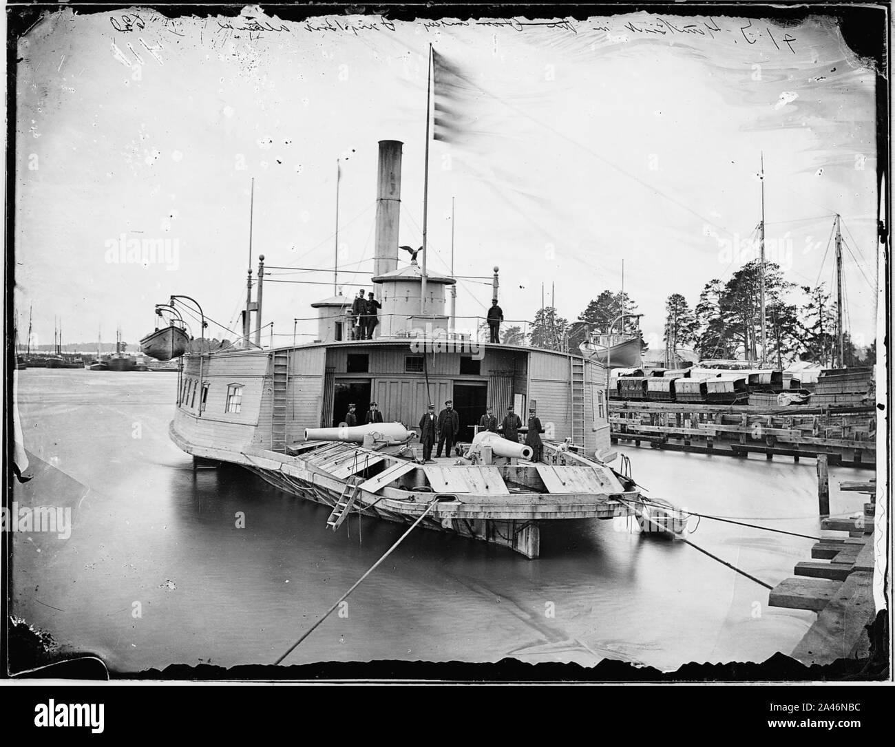 Gunboat 1864 Prussians Venning Bund Dybbol DENMARK antique print