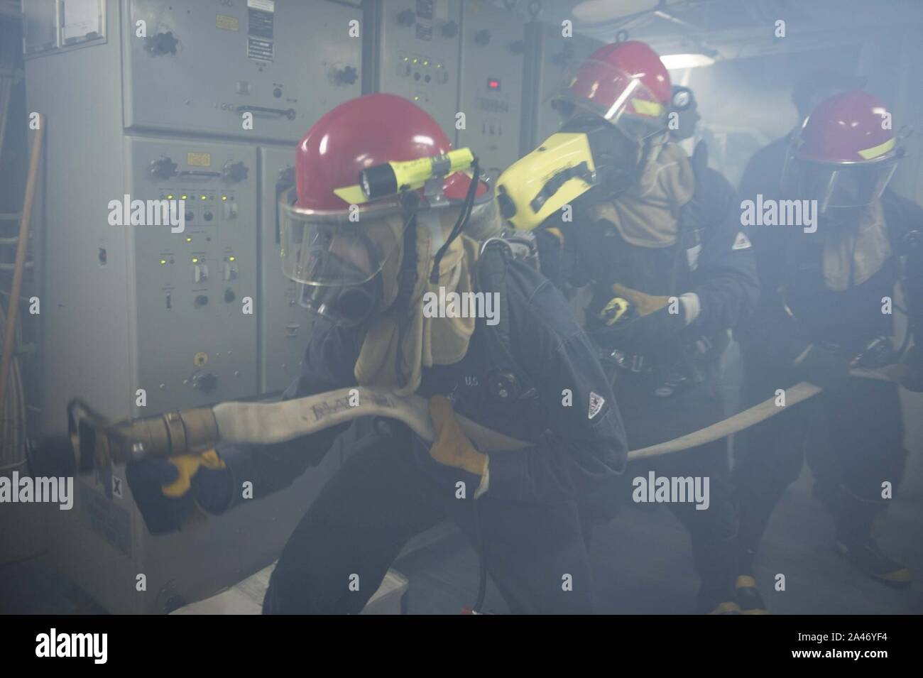 Fire drill 131008-N Stock Photo
