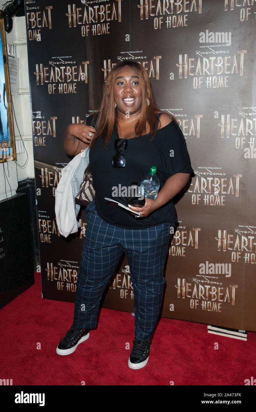 Seen arriving on the red carpet for Heartbeat of Home press night, at Piccadilly Theatre. London 11.09.19 Featuring: Chizzy Akudolu Where: London, United Kingdom When: 11 Sep 2019 Credit: WENN.com Stock Photo