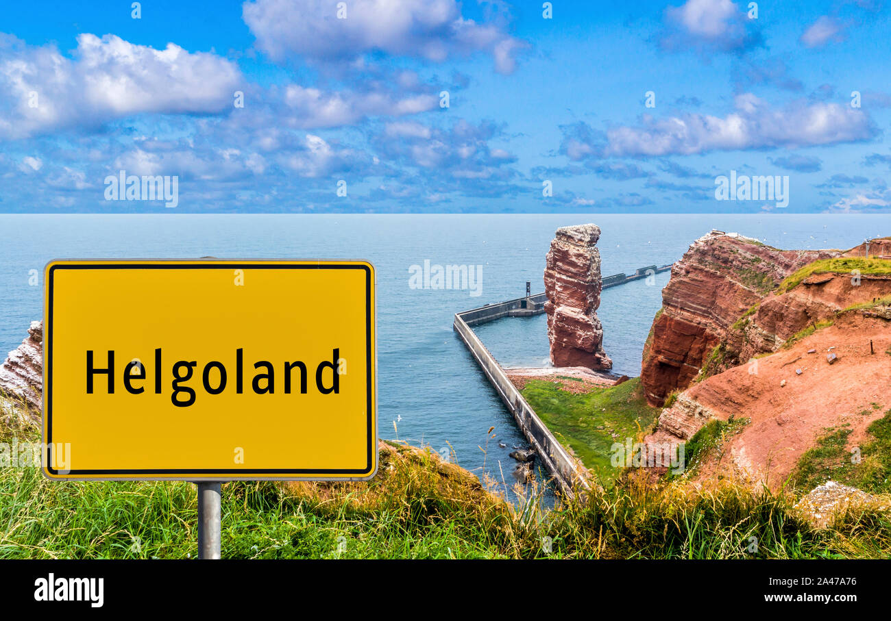 German Place name Helgoland Stock Photo