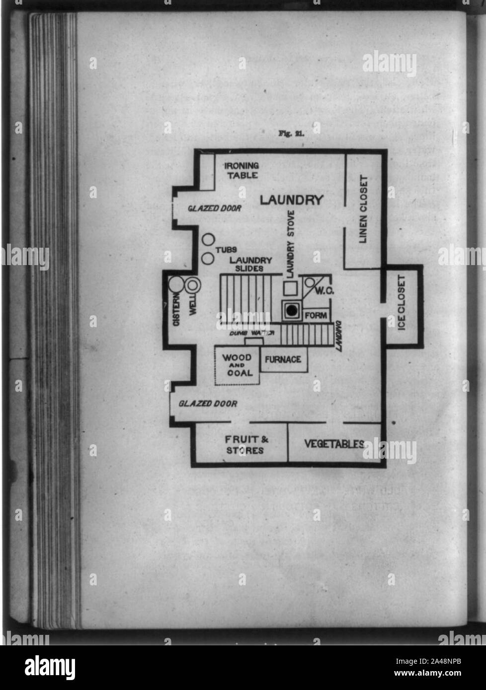 Floor Plan Of Laundry And Food Storage Rooms Abstract Medium 1 Print Stock Photo Alamy