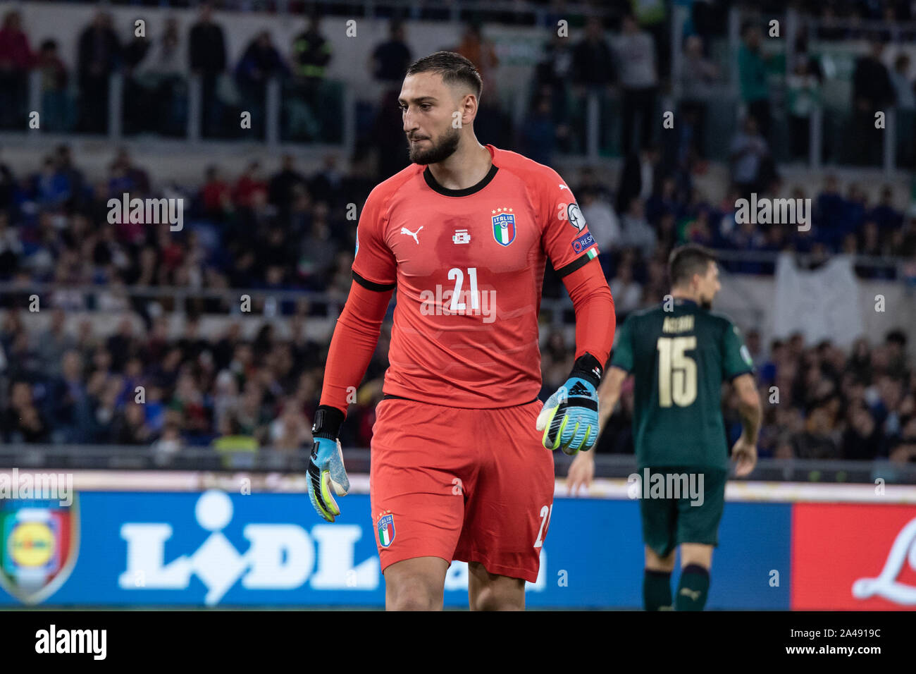 Rome Italy 12th Oct 2019 Gianluigi Donnarumma Of Italy Seen In Action During The Uefa Euro