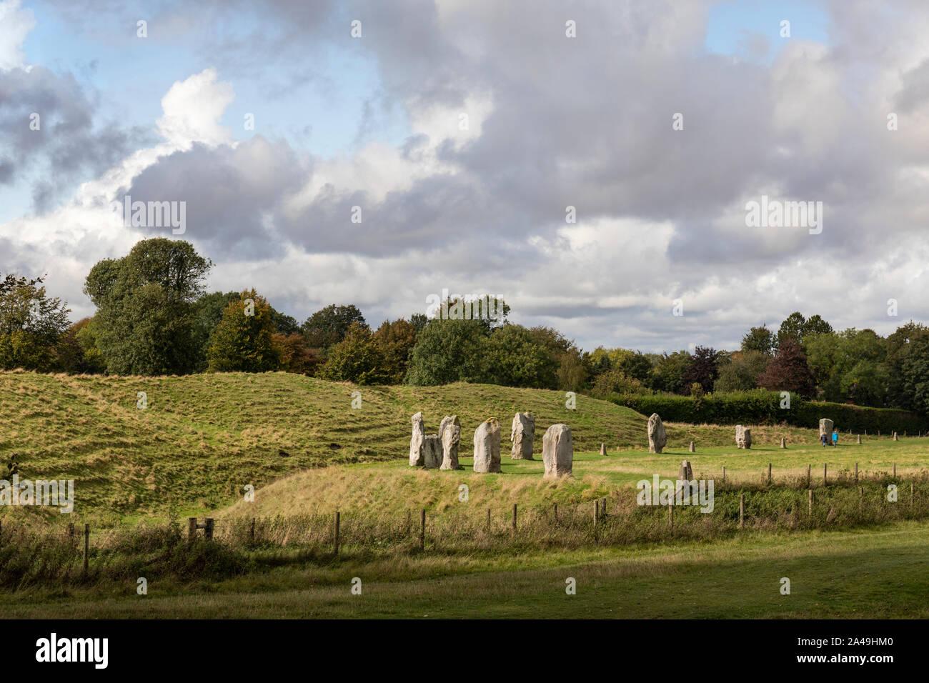 Standing stones at Avebury, Wiltshire a UNESCO World Heritage Site Stock Photo