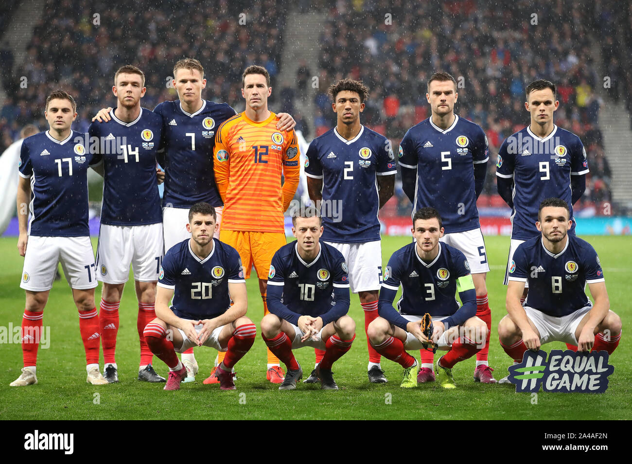 Scotland Players Line Up Top Row Left To Right James Forrest Stuart Findlay Scott Mctominay Jon