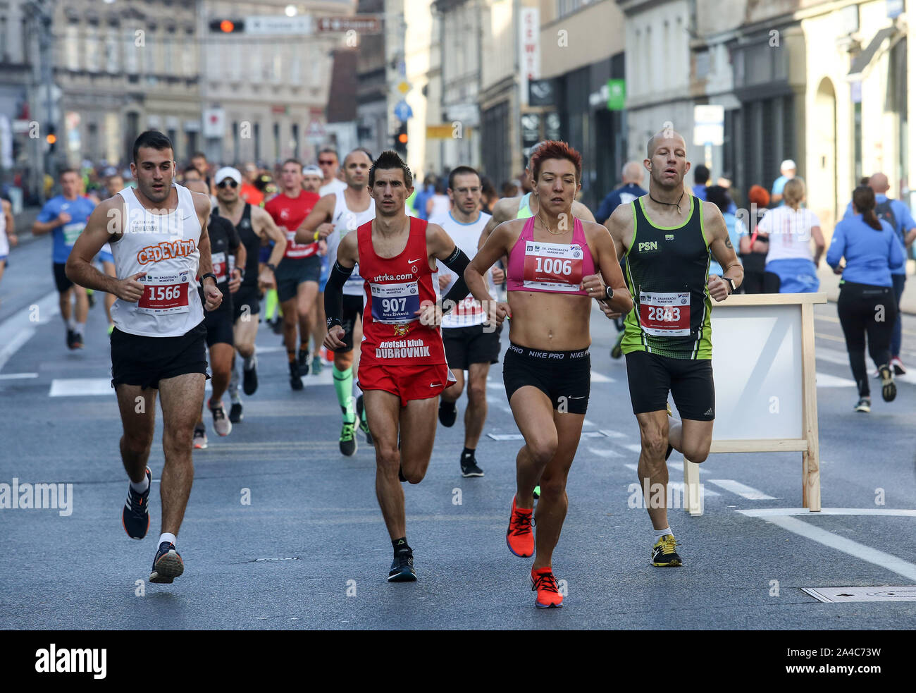 Zagreb Marathon High Resolution Stock Photography And Images Alamy
