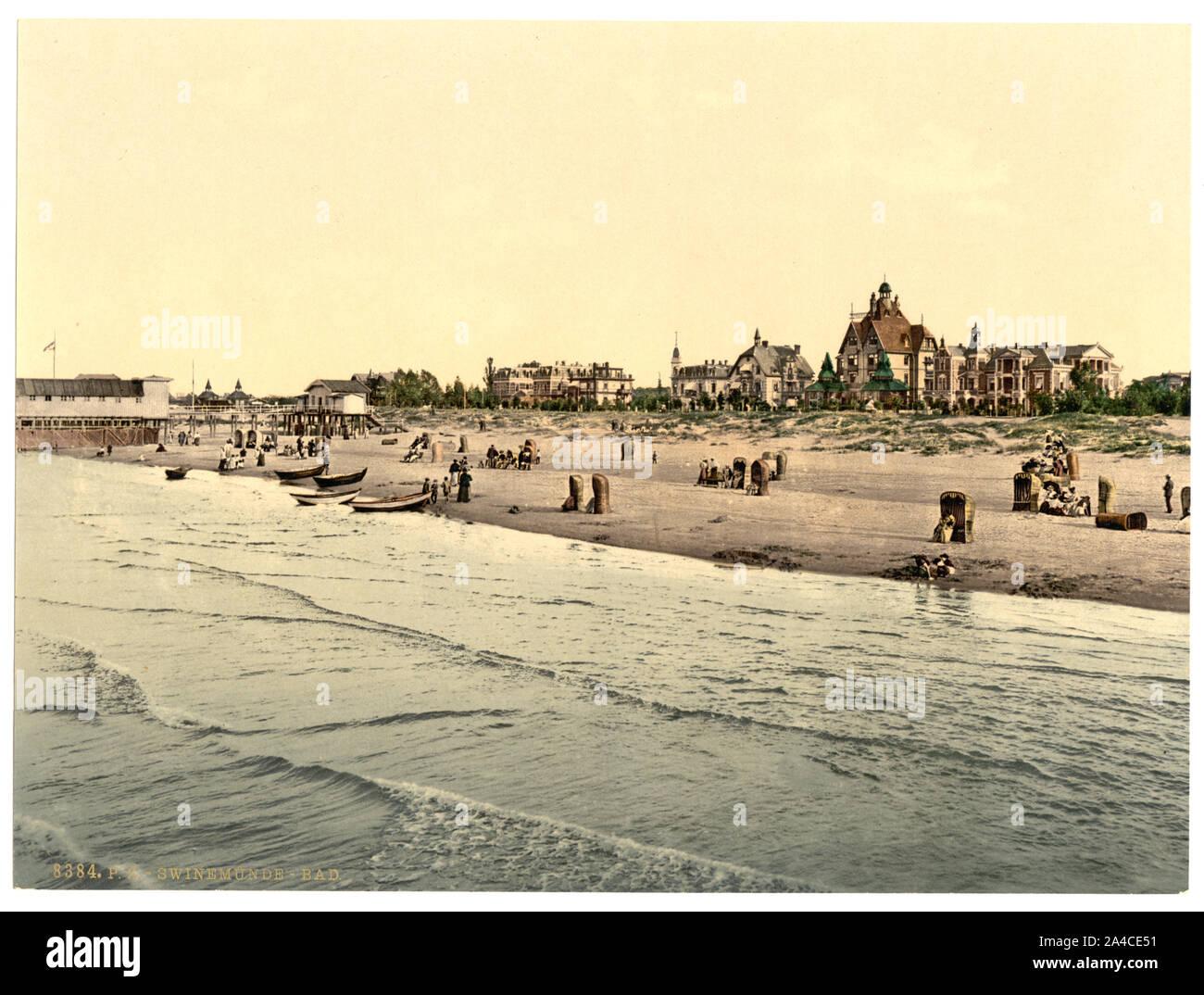 The  baths, Swinemunde, Pomerania, Germany (i.e., Świnoujście, Poland) Stock Photo