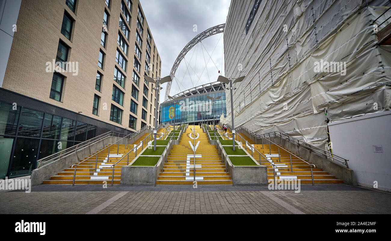 Wembley stadium is a football stadium in Wembley, London, which opened in 2007. Stock Photo
