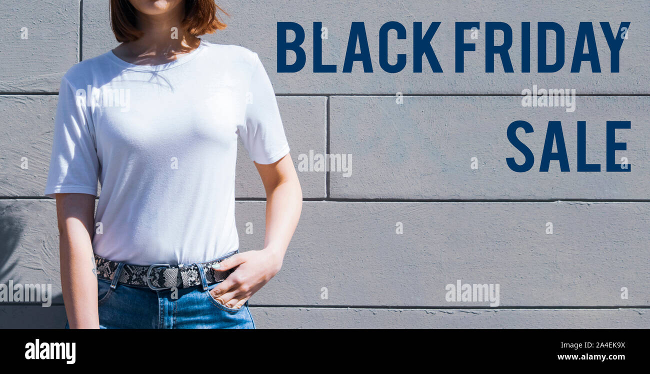Black Friday Sale Shopping Banner Mockup Of Special Day Red And Black Color Stock Photo Alamy