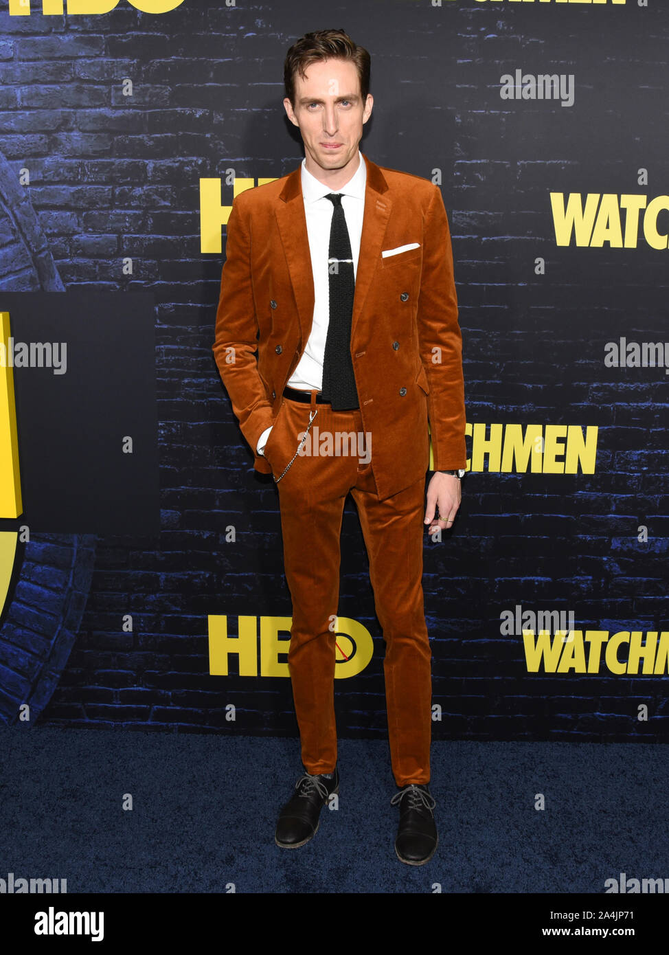 October 14, 2019, Hollywood, California, USA: Dustin Ingram attends the HBO Series Premiere of the Watchmen. (Credit Image: © Billy Bennight/ZUMA Wire) Stock Photo