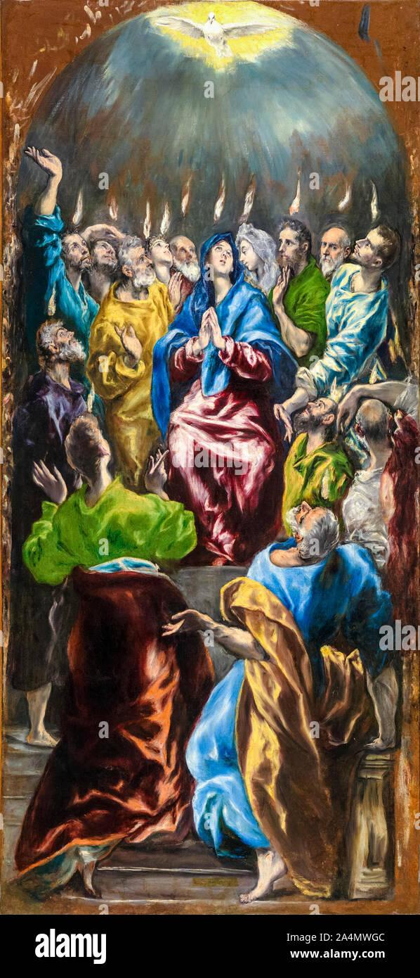 El Greco, The Pentecost, (Doña María de Aragón Altarpiece), painting, 1597-1600 Stock Photo