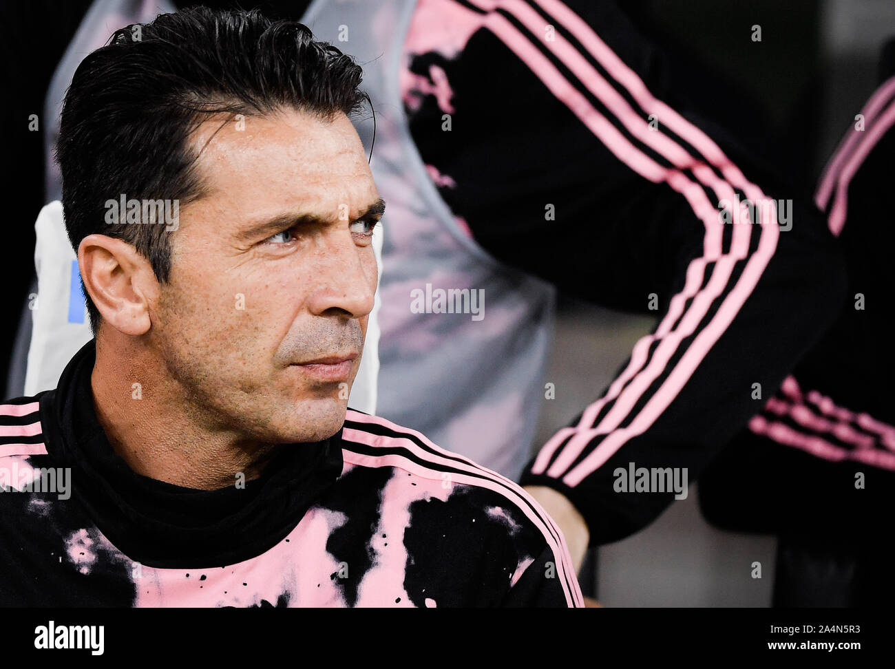 Gianluigi Buffon during the Inter-Juventus soccer match in San Siro Stadium Stock Photo