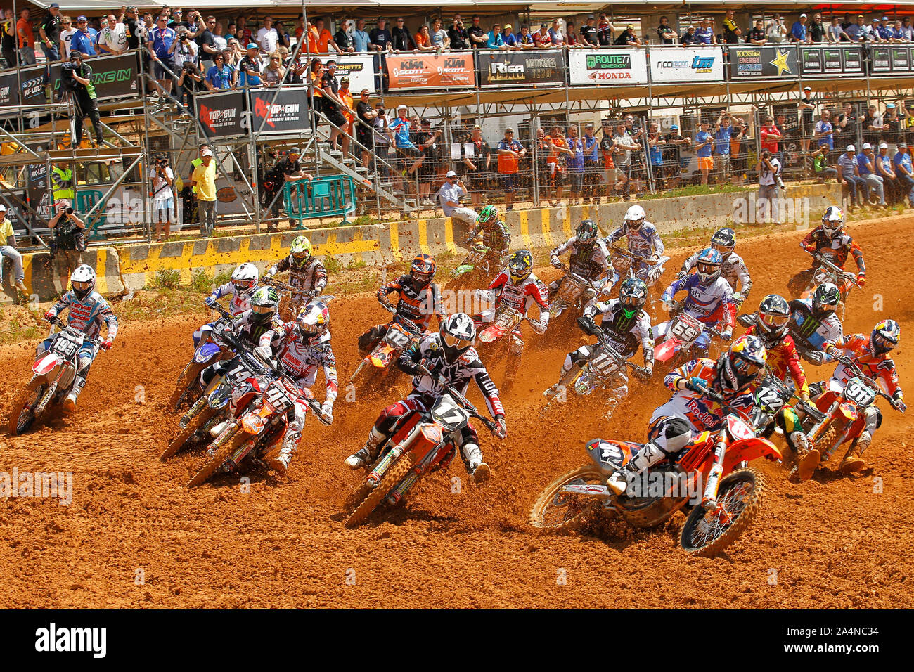 MX2 rider's, JEFFREY HERLINGS (NED) of Red Bull KTM Factory Racing, MX2 during GP of Portugal 2013 in MX1 and MX2, Casarão International Crossodromo, Stock Photo