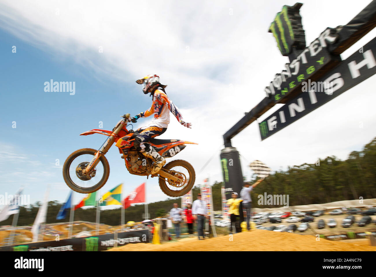 JEFFREY HERLINGS (NED) of Red Bull KTM Factory Racing, MX2 during GP of Portugal 2013 in MX1 and MX2, Casarão International Crossodromo, Águeda in Por Stock Photo