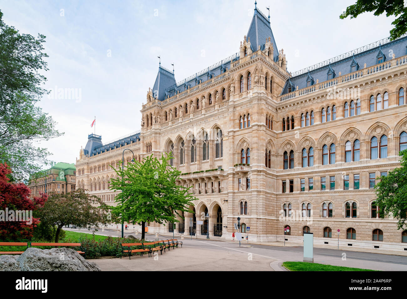 Bundeskanzleramt or Austrian Federal Chancellery on Ballhausplatz Square in Vienna Stock Photo