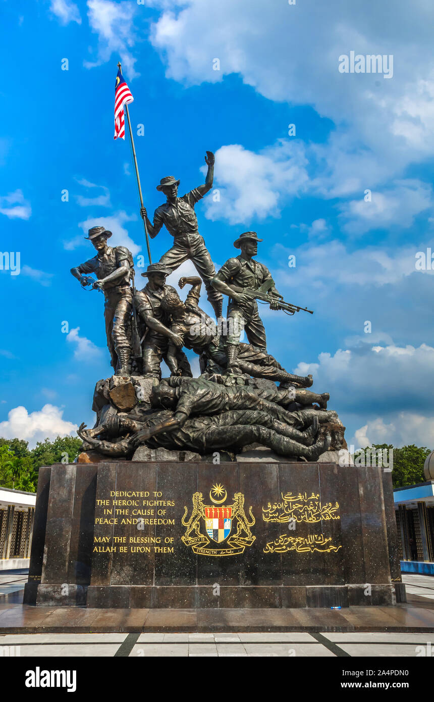 tugu high resolution stock photography and images alamy https www alamy com kuala lampur malaysia december 18 2018 royal malaysias national monument also known as tugu negara it is located in the capital kuala lumpur image329949340 html