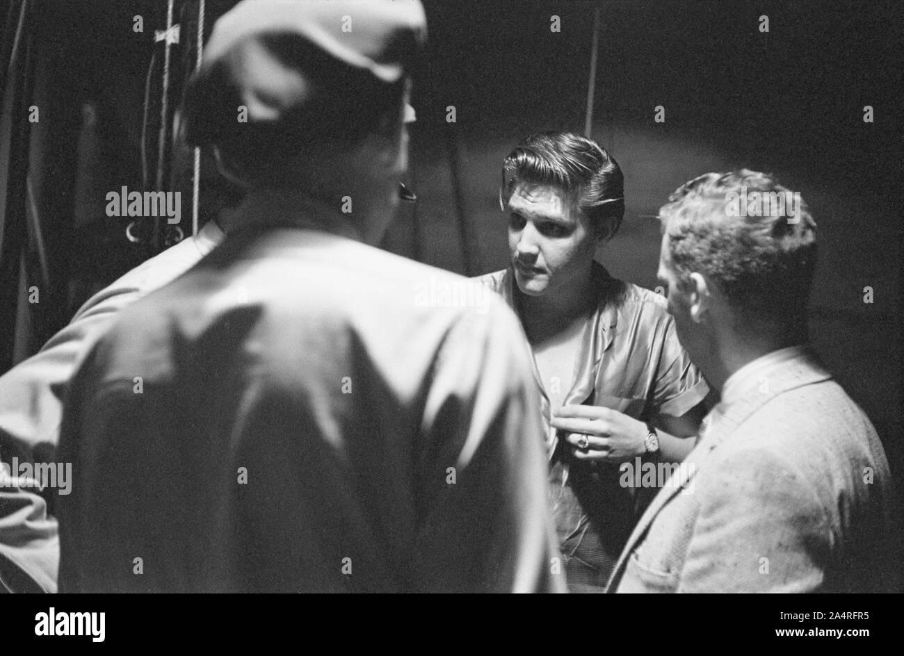 1956 ELVIS PRESLEY Dayton Ohio PHOTO Backstage with Cousin Gene