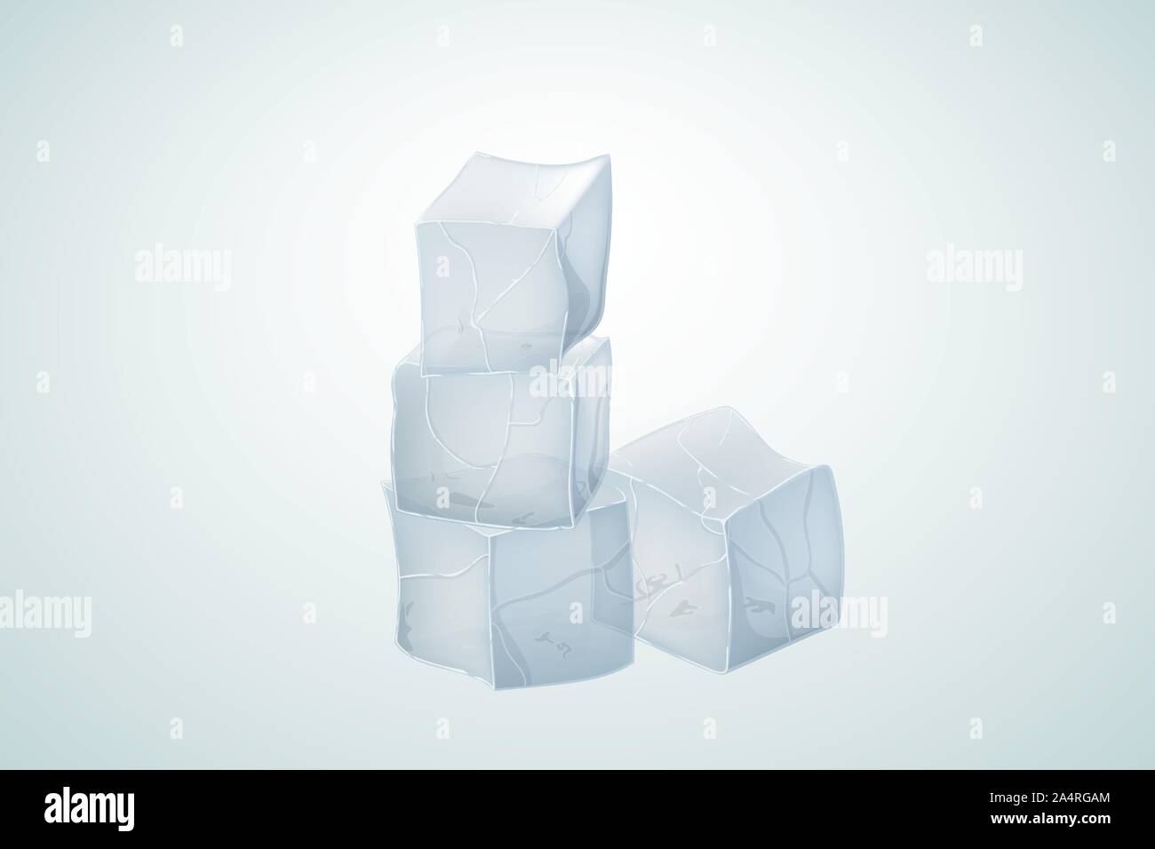 Translucent ice cubes for alcoholic beverage. Vector illustration. Stock Vector