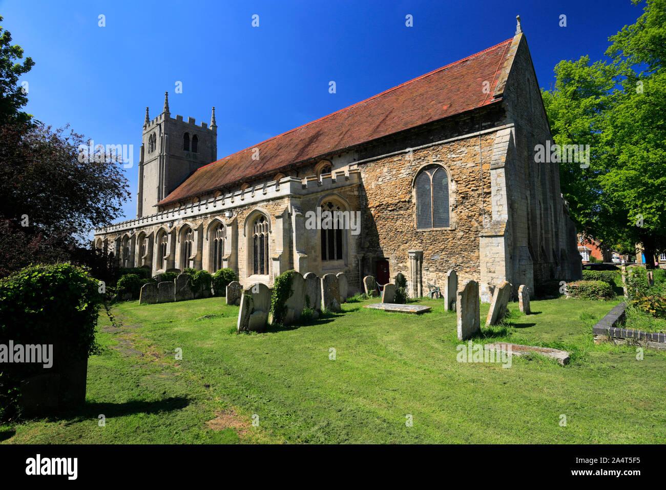 Summer, St Thomas a Becket Church, Ramsey village; Cambridgeshire; England; UK Stock Photo