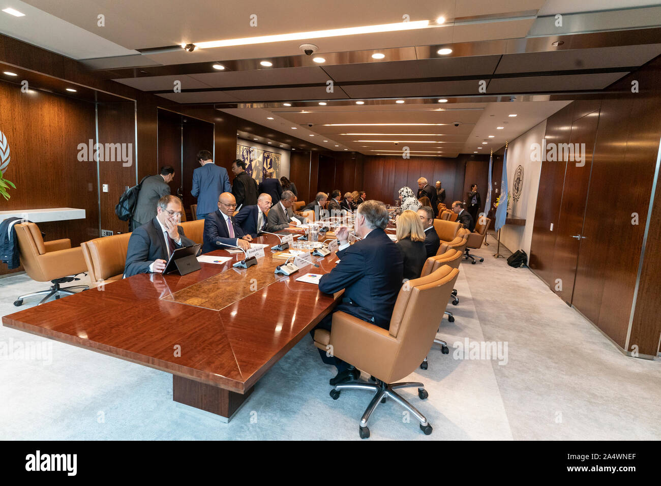 New York, United States. 16th Oct, 2019. UN Secretary-General Antonio Guterres hosts Inaugural Meeting of the Global Investors for Sustainable Development Alliance at UN Headquarters (Photo by Lev Radin/Pacific Press) Credit: Pacific Press Agency/Alamy Live News Stock Photo