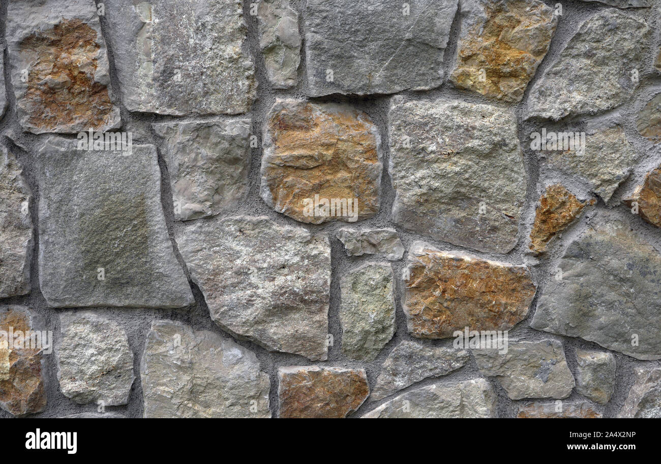 Background stone wall surface construction Stock Photo
