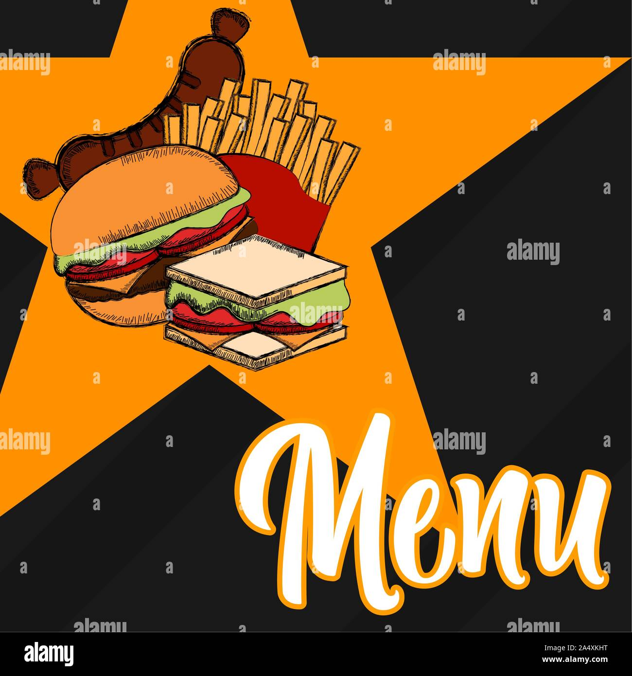Fast Food Menu Restaurant Menu Design Vector Illustration Stock Vector Image Art Alamy