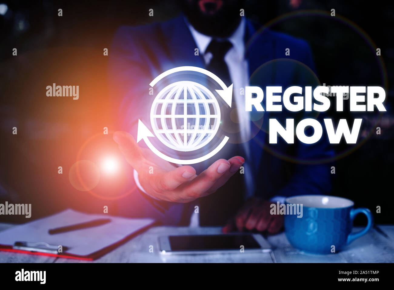 Conceptual Hand Writing Showing Register Now Concept Meaning Name