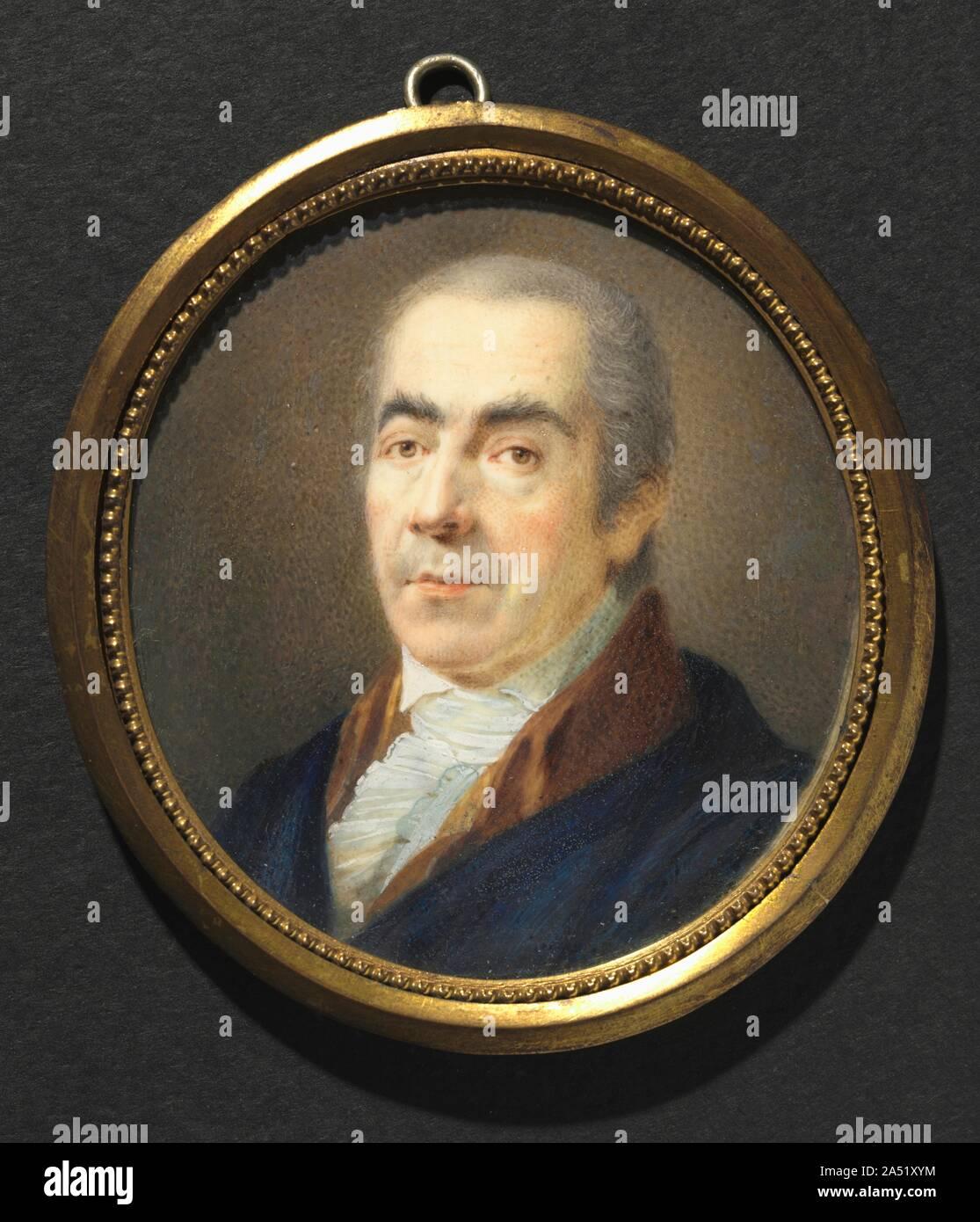 Portrait of a Man, c. 1795. Stock Photo