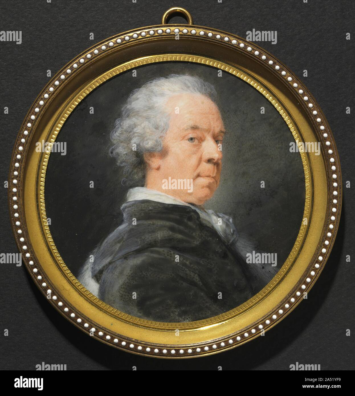 """Portrait of Ivan Grigorevich, Count Chernyshev, c. 1785. Heinrich Füger, known as the """"Cosway of Vienna,"""" was born in Germany and studied in Italy and Vienna, where he became a court painter to the imperial family. Like Cosway, Füger drew his clientele from aristocratic circles. However Füger was less flamboyant than Cosway, capable of capturing the sitter's individual character and personality. Stock Photo"""