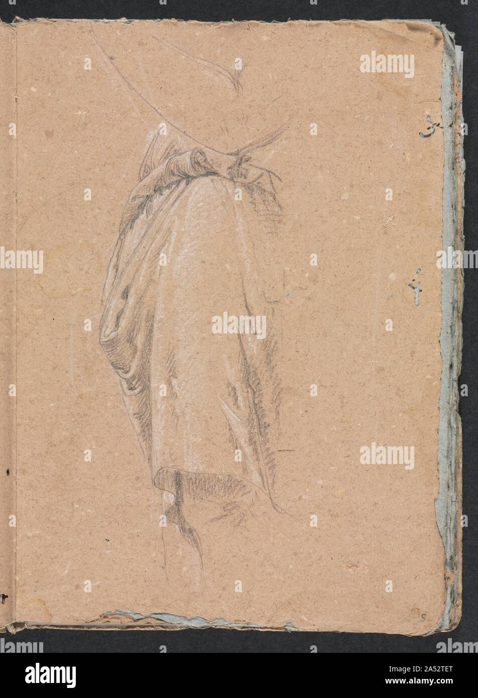 Verona Sketchbook: Drapery study with elbow (page 5), 1760. Stock Photo