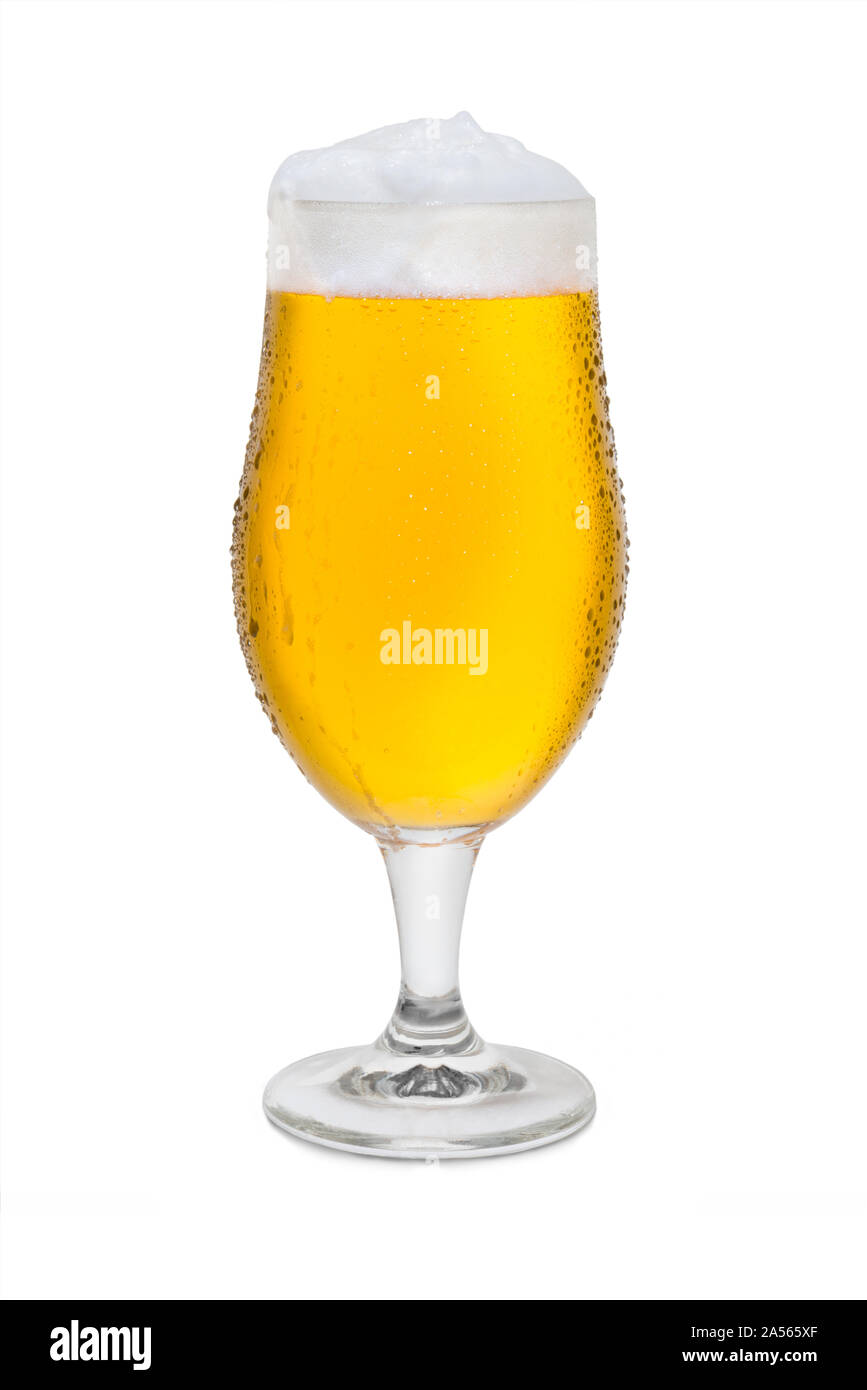 Full Belgium Ale with Condensation. Stock Photo