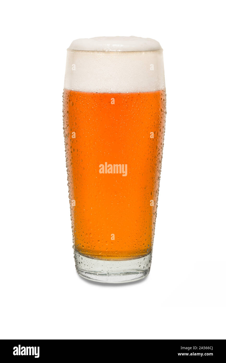 Sweated Craft Pub Beer Glass #2. Stock Photo