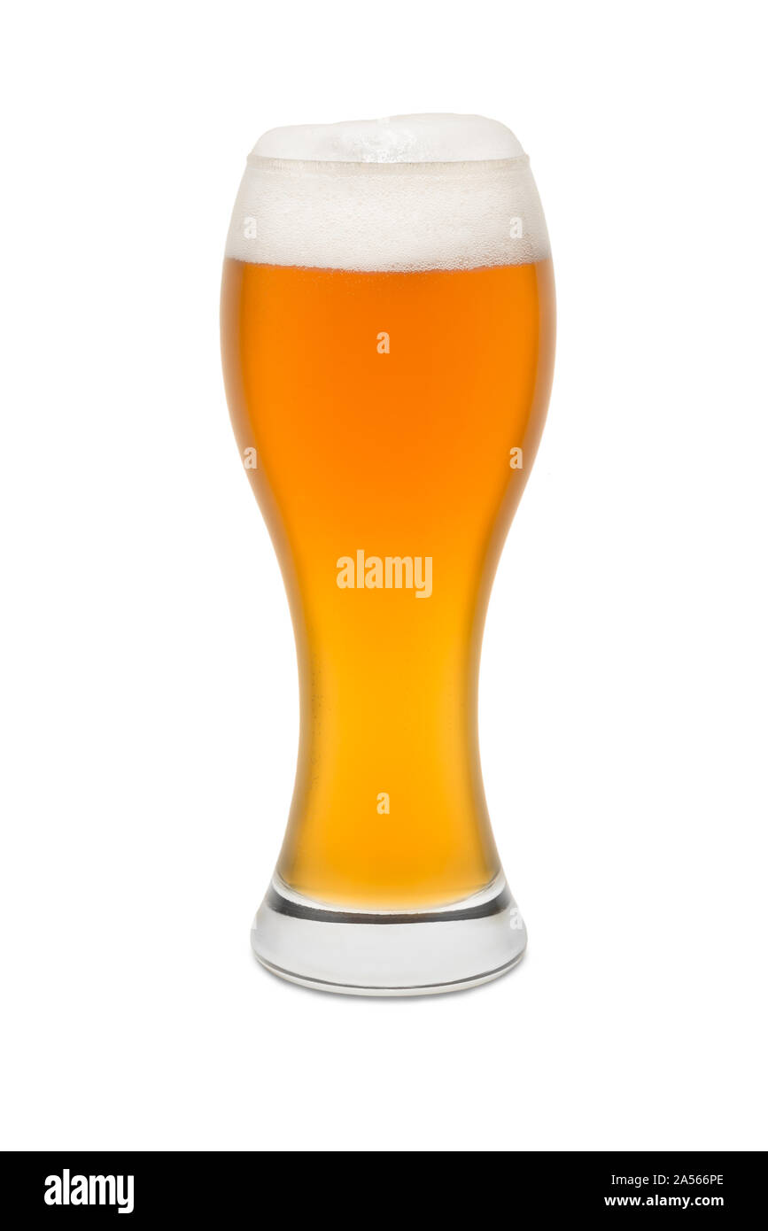 Isolated Wheat Beer, with Foam top #2. Stock Photo