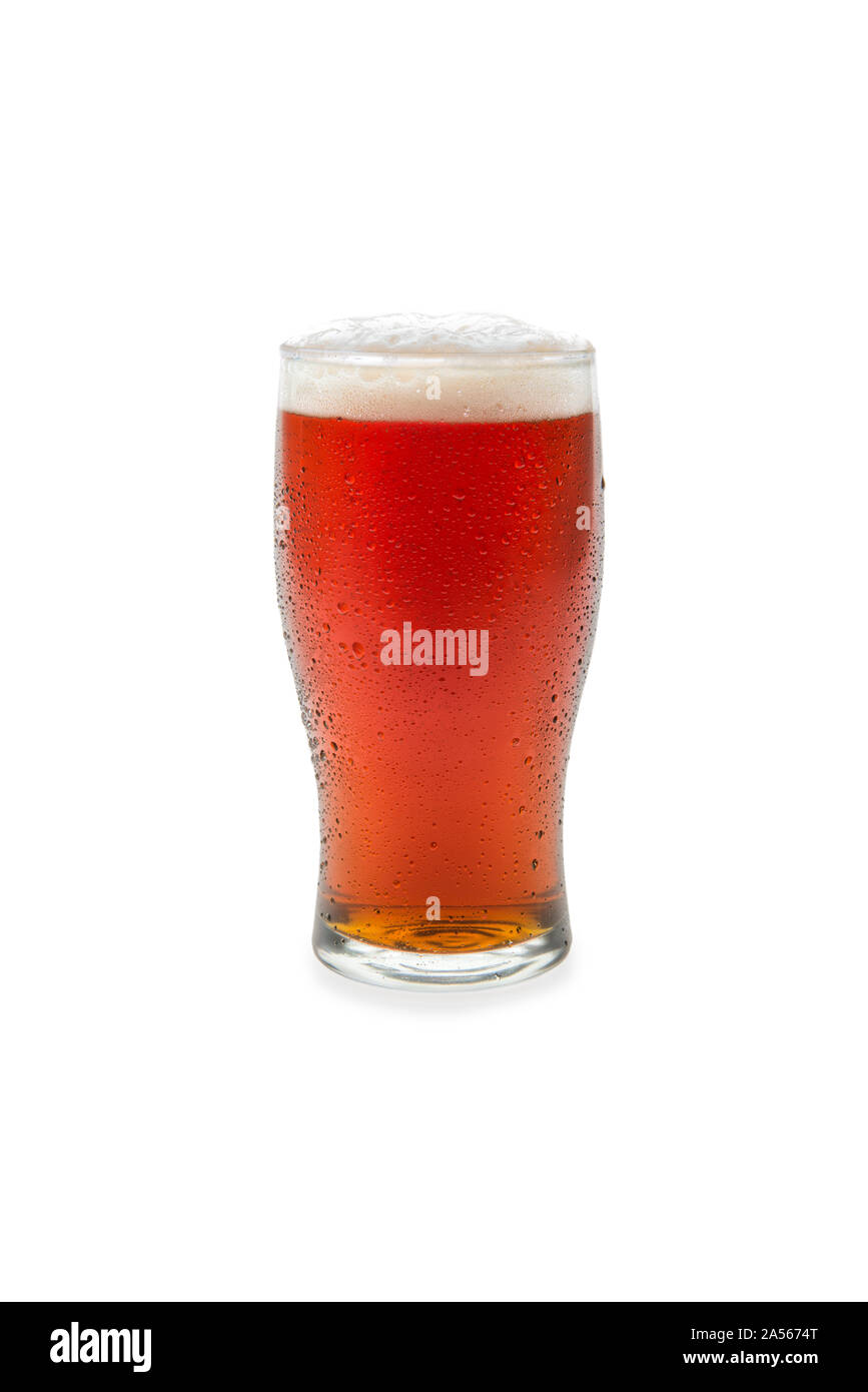 Amber Ale In Pint Glass #1. Stock Photo