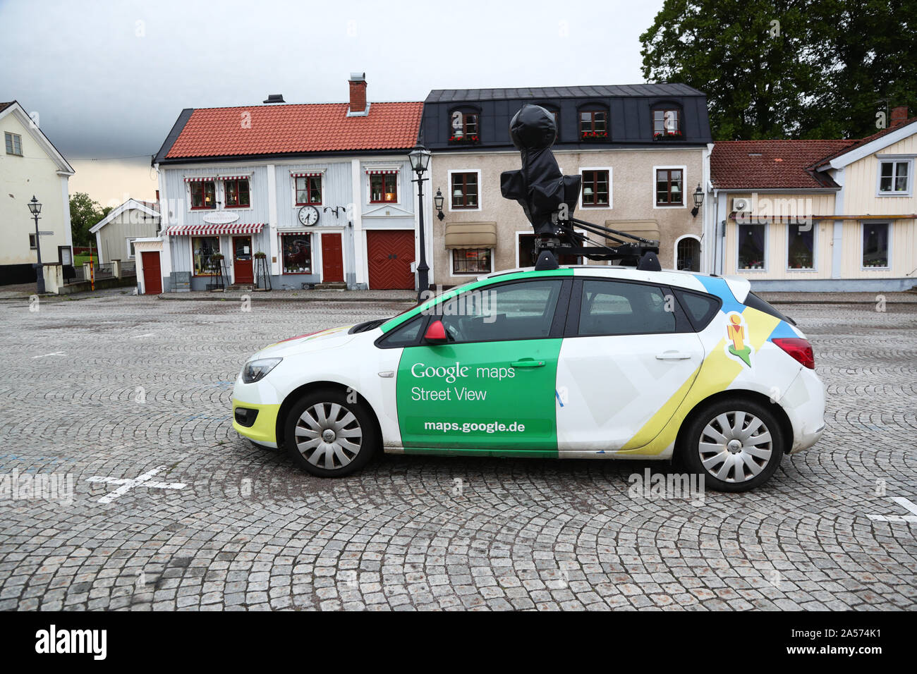 Camera car from Google maps, street view.Photo Jeppe Gustafsson Stock Photo