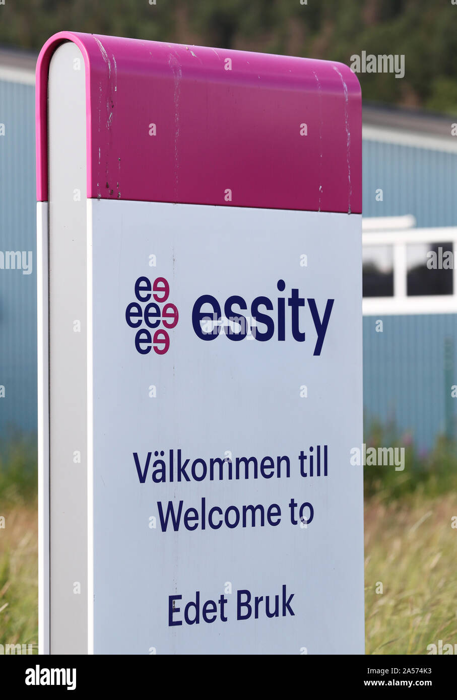 Essity in Lilla Edet. Essity Company is a global hygiene and health company.Photo Jeppe Gustafsson Stock Photo