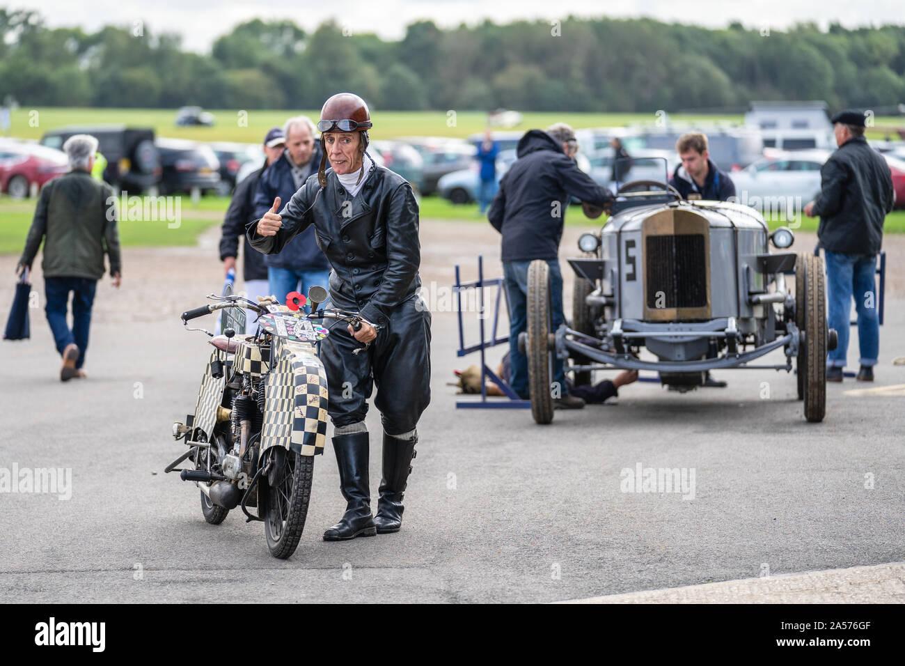 OLD WARDEN, BEDFORDSHIRE, UK ,OCTOBER 6, 2019. George Shuttleworth Speed Demon Race Day at Shuttleworth. Stock Photo