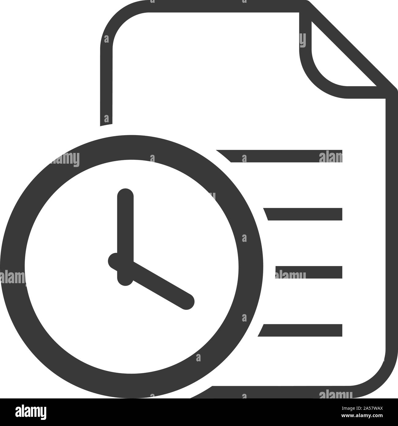 Document version history icon in simple vector Stock Vector Image ...