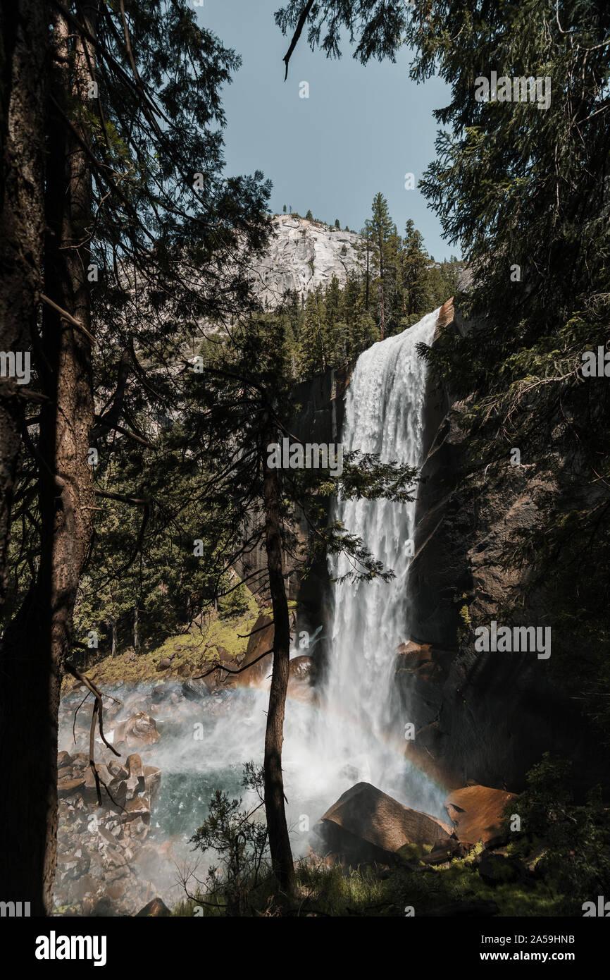 Yosemite National Park Nevada Waterfall in California Stock Photo