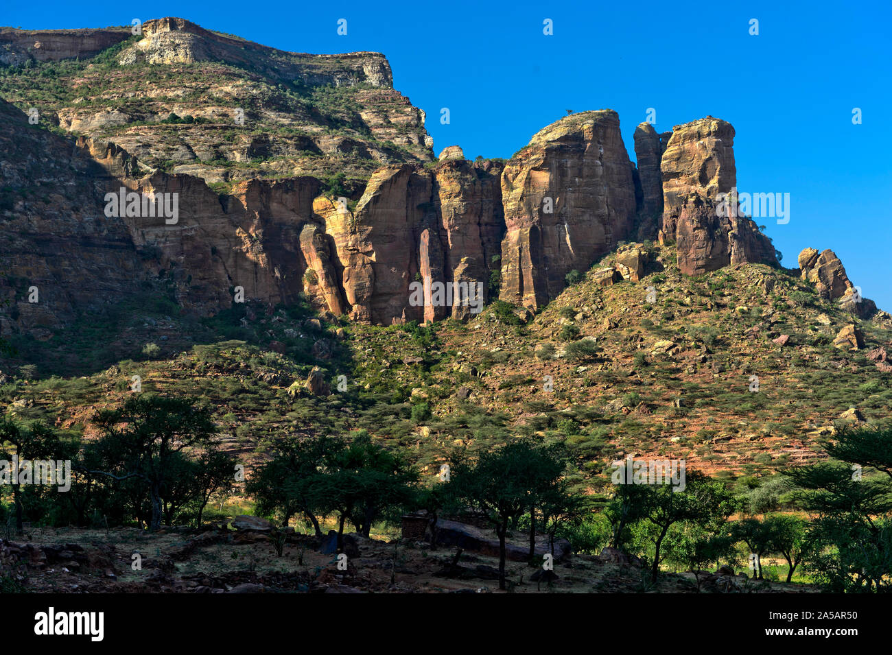 Gheralta Mountains, northern part of the East African Rift Valley, Hawzien, Tigray, Ethiopia Stock Photo