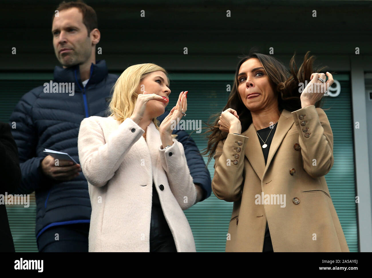 Christine Lampard Right Wife Of Chelsea Manager Frank Lampard During The Premier League Match At Stamford Bridge London Stock Photo Alamy