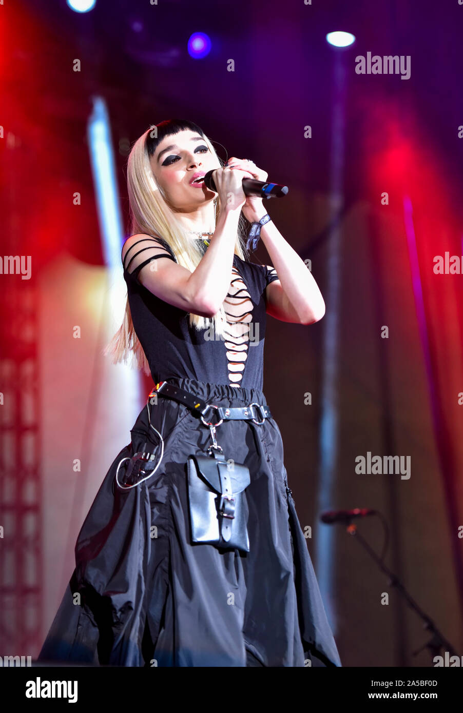 Las Vegas Nevada, October 18, 2019 – The band Poppy performing in concert at the third annual Las Rageous heavy metal music festival held at the Downtown Las Vegas Events Center. Photo Credit: Ken Howard Images Stock Photo